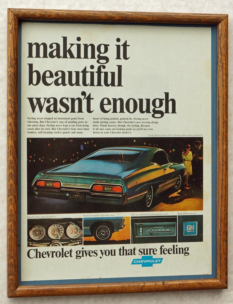 CM040 1967 Chevrolet Impala Car Ad Framed DSC04414
