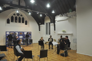 Musicians playing at the opening of the new parish centre of St James the Less, Pimlico   by The National Churches Trust
