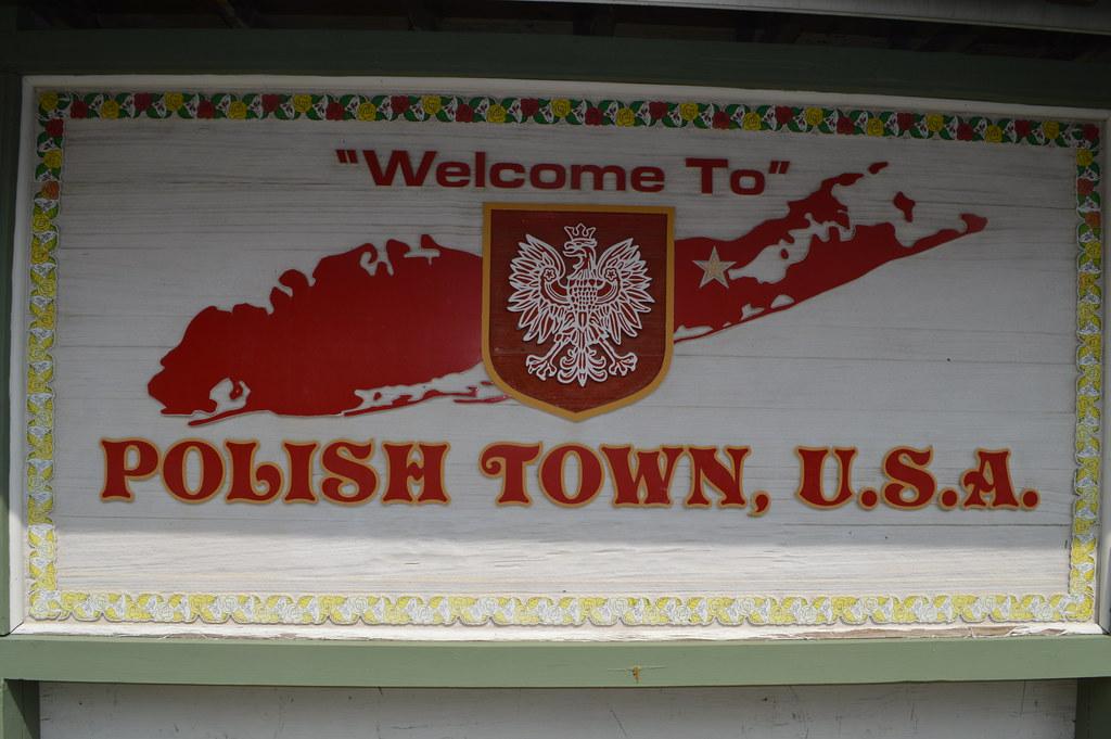 Welcome To Polish Town U S A Sign In Riverhead Long Isla