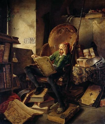 Adolf Schrodter Schwedt - Don Quixote Seated in an Armchair | by Gandalf's Gallery