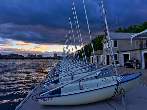 cambridge sunset sky weather boston clouds dark boats vanishingpoint dock sailing massachusetts charlesriver perspective newengland stormy sailboats darkclouds pw