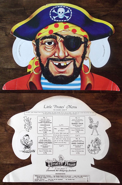 Vintage Pirates' House Kids Menu