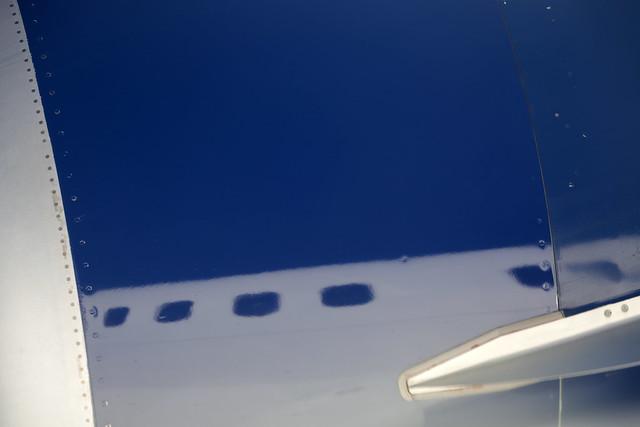 Airplane selfie