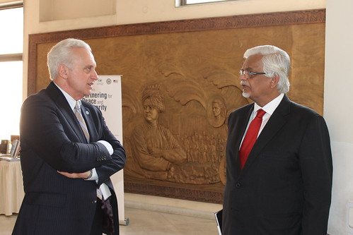 Dr. Sanjaya Baru, Distinguished Fellow, Centre for Policy Research, with Amb Francis Ricciardone
