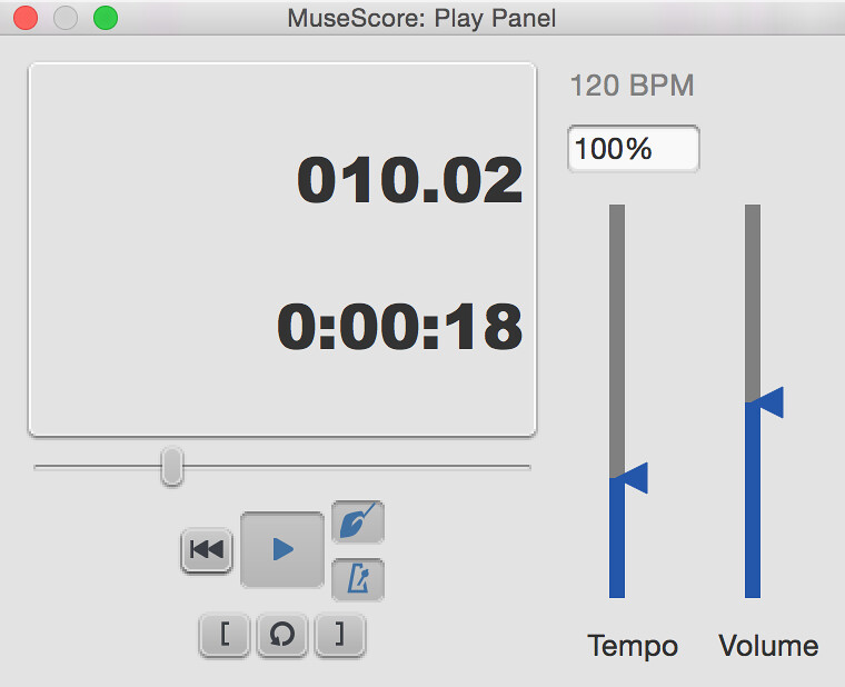 Play Panel | Metronome, loop, lead in clicks | MuseScore | Flickr