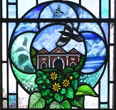 Diocesan Centenary window: Wortham School (Deborah Lowe, 2013)