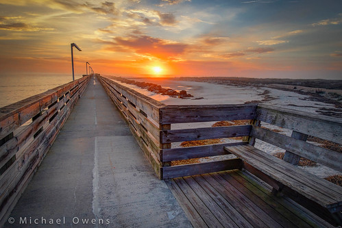 park beach sunrise pier sand state florida fort deserted hdr fernandina clinch