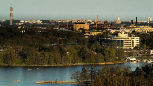 city sunset sky tower water forrest sweden stockholm sthlm kaknästornet cityview brunnsviken albanova sonyalpha sal70200g2 redfurwolf