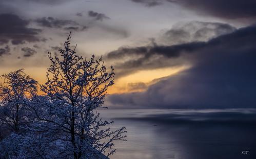 sunset sun snow nature colors norway landscape spring nikon fjord