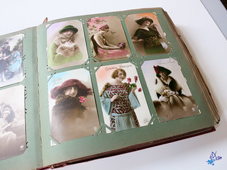 Album de cartes postales fantaisies - 1900