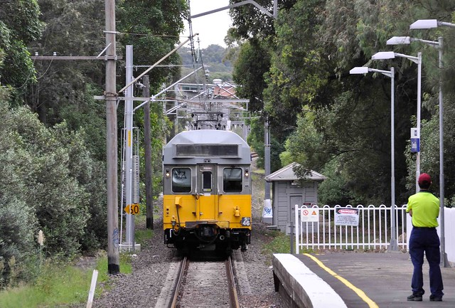 Sydney Trains - S Set S46 - The Carlingford Shuttle arrives at Camellia from Rydalmere