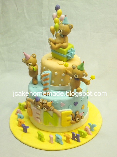Teddy bear birthday cake  泰迪熊蛋糕