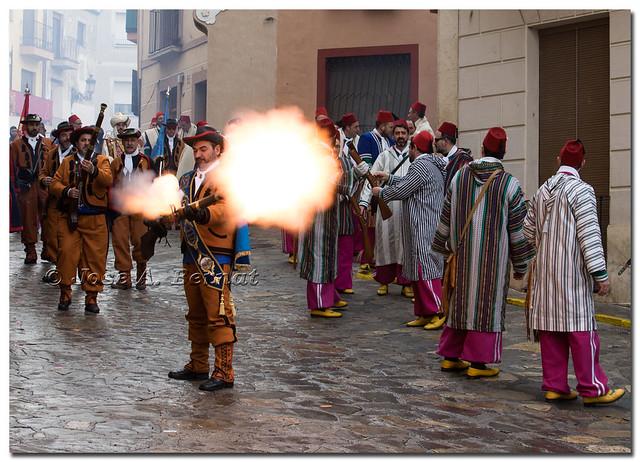 Fiestas de Moros y Cristianos en Bocairent.