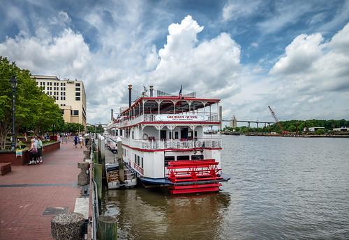georgia queen riverboat riverfront savannah