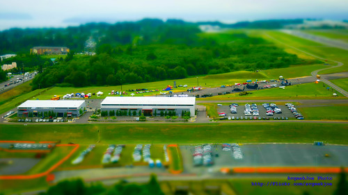 Here in Nikon D5300 Minature Mode is Historic Flight Foundation at 10 AM On Paine Field Aviation Day at 10 AM