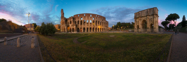 The Colosseum and Constantine's Arch, panorama