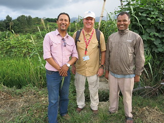 Kirk Astroth, center, in Nepal