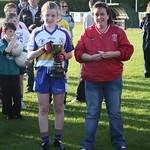 Cailin McCann receiving 2011 U14 C/ship trophy