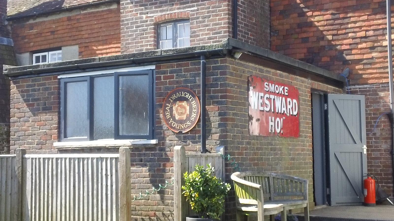 Rear of Cross Inn pub Staplecross