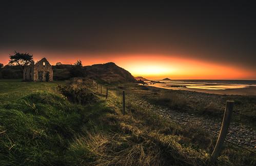 bretagne breizh ruine plage coucherdesoleil viken samyang nikond5300