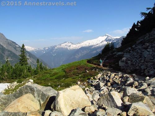 The trail just below Cascade Pass, North Cascades National Park, Washington