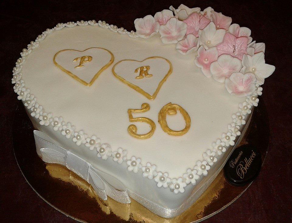 Torta 50 Anni Di Matrimonio Pasticceria Bellucci Firenze
