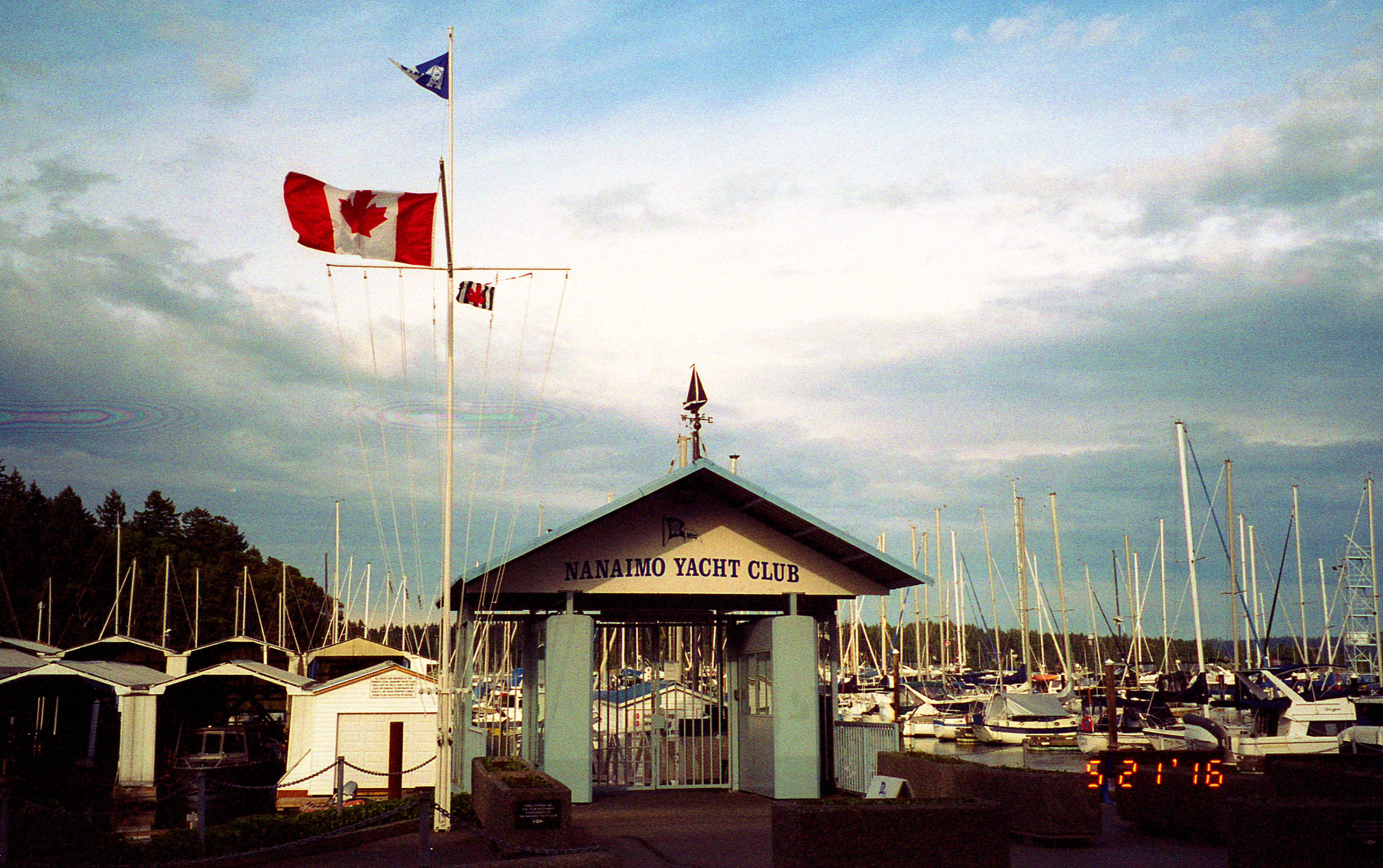 Nanaimo Yacht Club - 2 (of 2) - Konica Z-up 80 Super Zoom (1988) with 9-year expired Kodak ISO 200 Film (Expired 2007)
