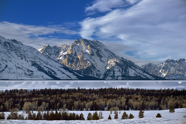 Mount Moran on a Winter Afternoon in Grand Teton National Park