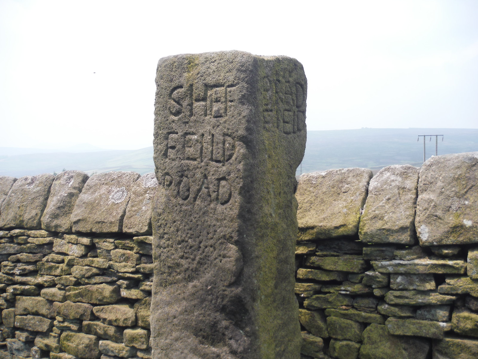 Guide Post near Moscar Lodge SWC Walk 266 - Sheffield to Bamford (via Burbage Rocks and Stanage Edge) or to Moscar Lodge [Extension to Ladybower Inn]