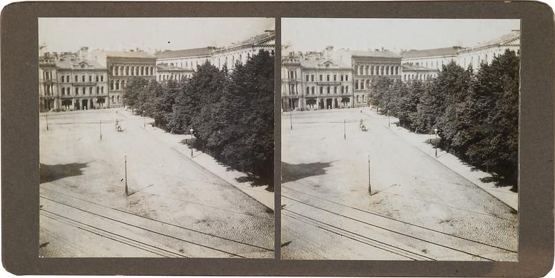 """The window view from Akseli Gallen-Kallela's studio, nicknamed """"the Cabin"""", in Erottaja 2, Helsinki."""