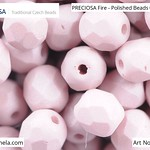 PRECIOSA Fire-Polished Beads - 151 19 001 - 02010/29562 - Taupe