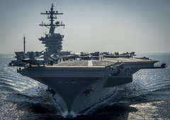 In this file photo, USS Carl Vinson (CVN 70) prepares for flight operations supporting Operation Inherent Resolve in December. (U.S. Navy/MC2 Alex King)