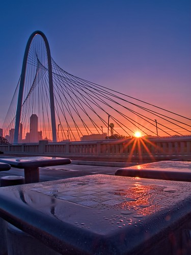 bridge sky detail skyline sunrise dallas cityscape texas availablelight tx tripod bridges clarity olympus hdr omd topaz adjust em10 denoise