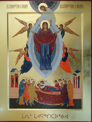2015 Icône de l'Assomption de la Mère de Dieu / The Assumption of the Mother of God Icon- Main de - Hand of Virginie Desjardins | by Périchorèse-iconographie