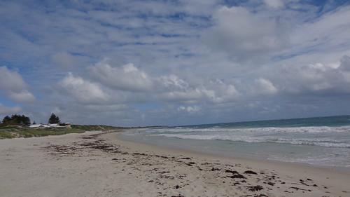 ocean sea sky beach water clouds sand waves australia perth westernaustralia cloudysky mullaloo mullaloobeach