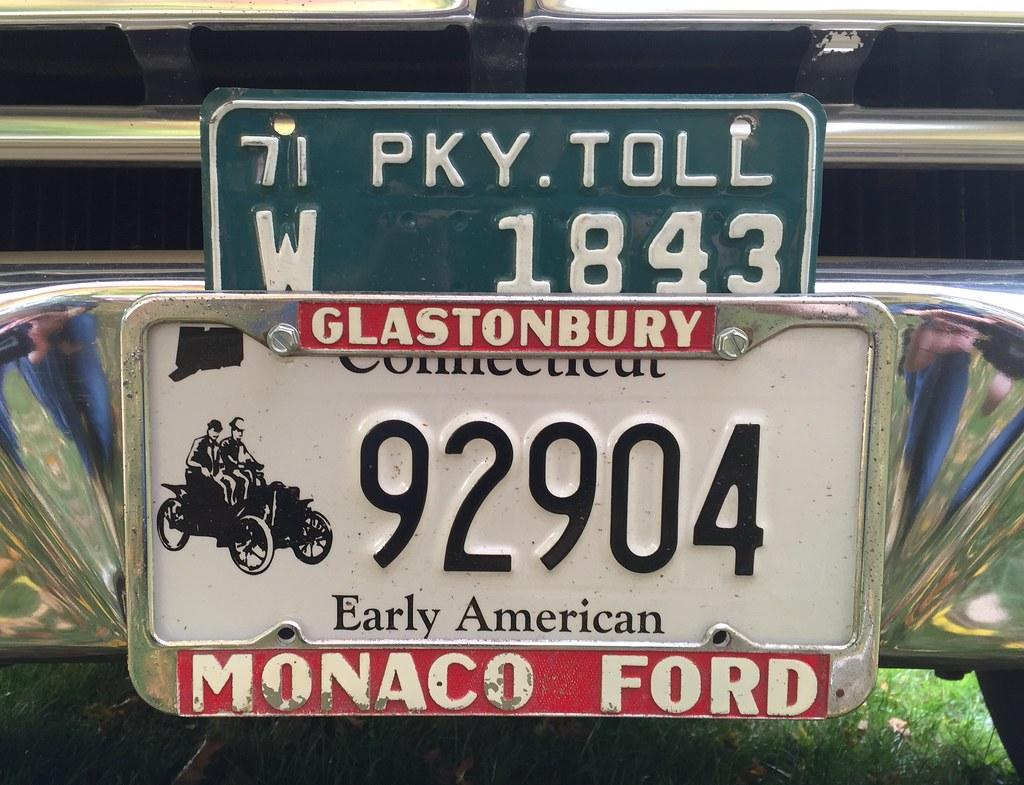 Monaco Ford dealer license plate frame    Vintage dealership