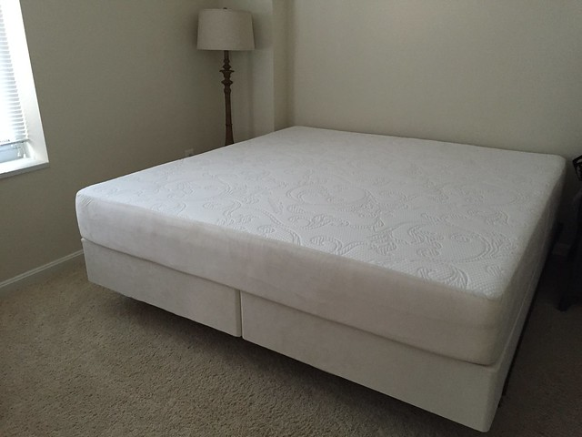This was one of our first purchases when we moved to the US and my hb's wedding anniv gift to me since we really love our Tempur pillows and cushions! Finally a big king-sized Tempur-pedic bed! Woohoo so happy! #tnxhb