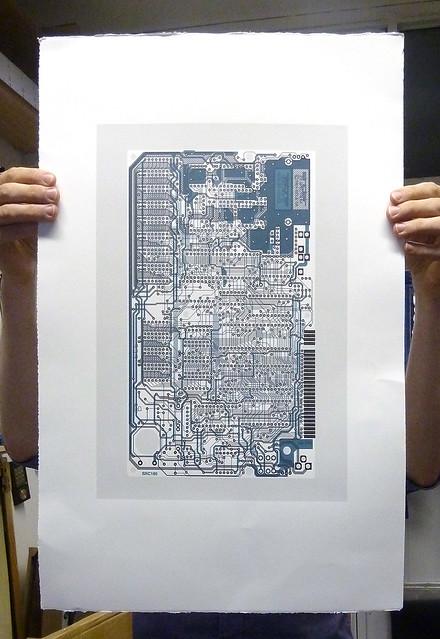 Sinclair ZX Spectrum - Circuit portrait v in midnight