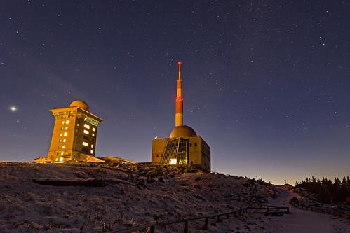 harz nacht nationalpark nationalparkharz sonnenuntergang winter harzmountain sunset brocken summit gipfel