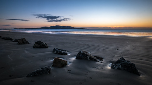layered calm peaceful nature water orange sea morning beach ocean outside photography outdoors depth photo tranquil landscape ireland european landscapes sun sky shore sunrise longexposure yellow photograph bullisland beautiful travel cloud sand dublin natural seascape horizontal europe clouds coast onsale
