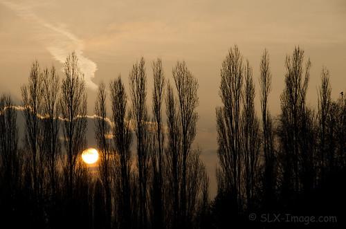 sunset silhouette clouds antwerp antwerpen merksem