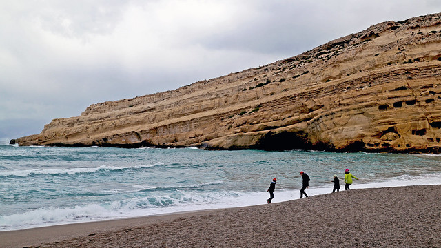 Beach at Matala, Crete