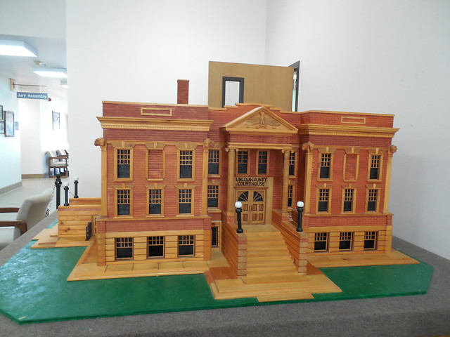 Replica of Lincoln County Courthouse