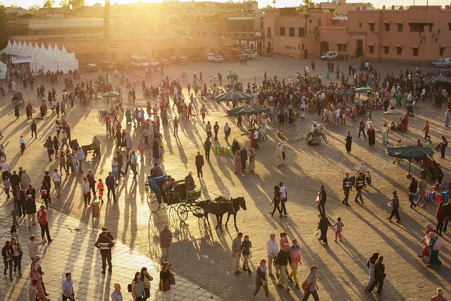 Sunset on the Square, Marrakech