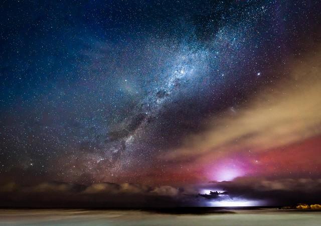 Torquay Beach Aurora Australis Lightning