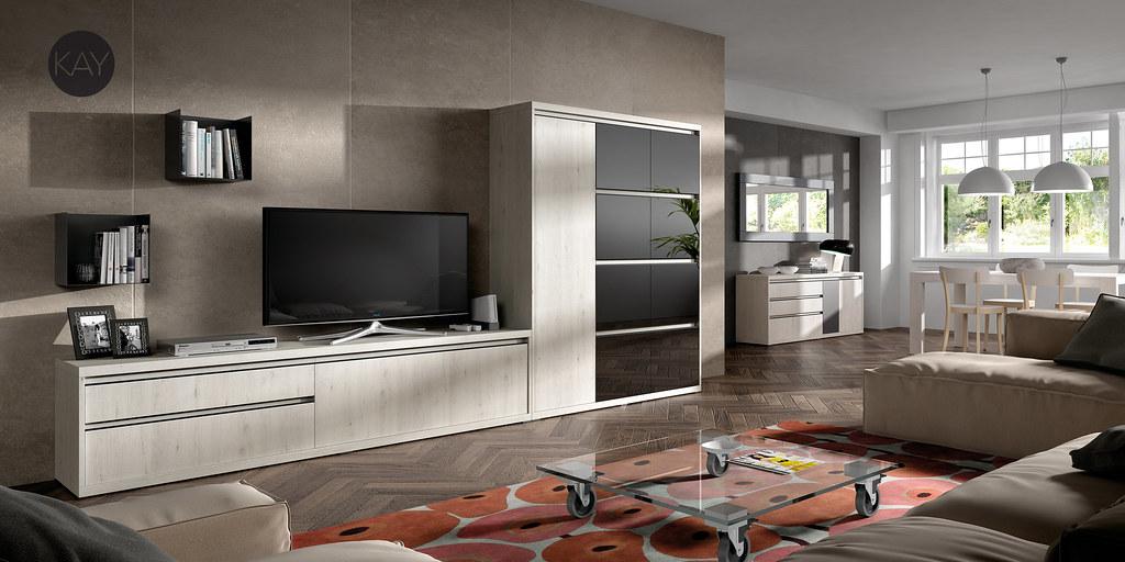 Salon Comedor Moderno KAY - Baixmoduls | Fabrica de mobiliar ...