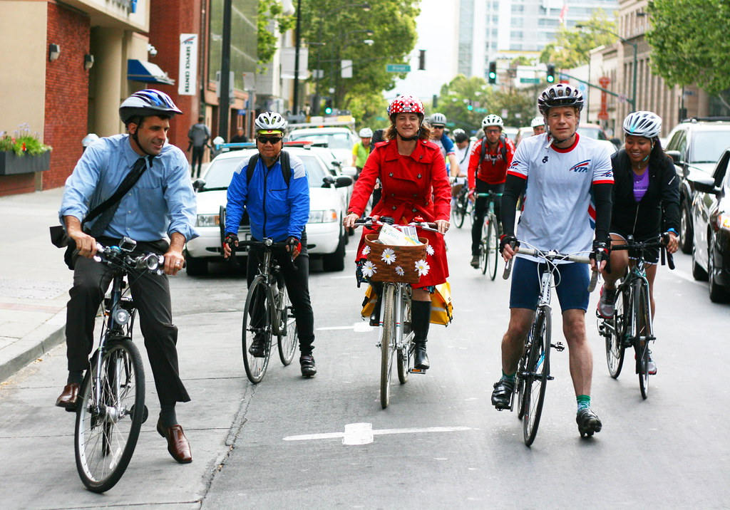 Image result for biking downtown