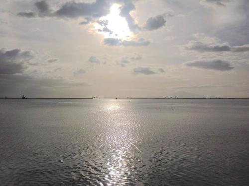 sunset sky cloud beach clouds nebel philippines manila metromanila pwgen pwpartlycloudy southportdistrictmanila
