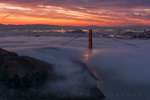 sanfrancisco california morning fog clouds sunrise bay goldengatebridge