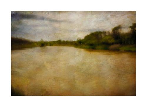 river landscape brandon manitoba textured assiniboine